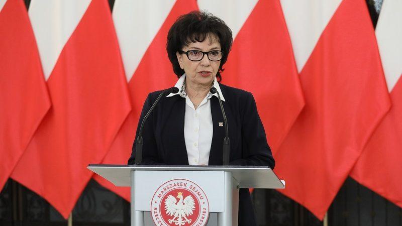Marszałek Sejmu Elżbieta Witek, źródło twitter elzbietawitek
