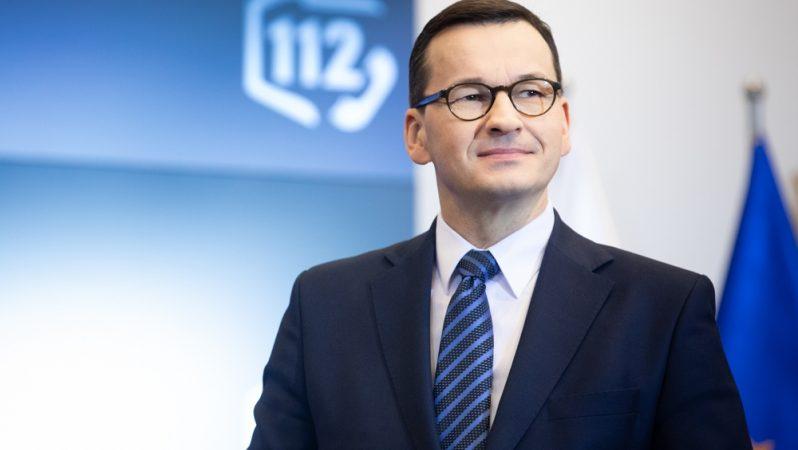 Premier Mateusz Morawiecki w Europejskim Dniu Numeru Alarmowego 112, źródło Adam Guz KPRM