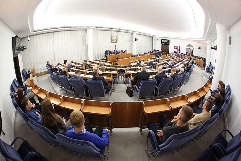 Sala obrad Senatu, źródło fb Senat RP