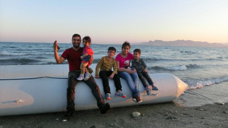 Uciekinierzy z Iraku po przybyciu na greckąwyspę Kos, źródło: Flickr/The International Federation of Red Cross and Red Crescent Societies, fot. Christopher Jahn/IFRC (CC BY-NC-ND 2.0)