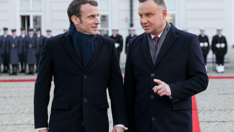 Emmanuel Macron i Andrzej Duda, fot. Kancelaria Prezydenta]