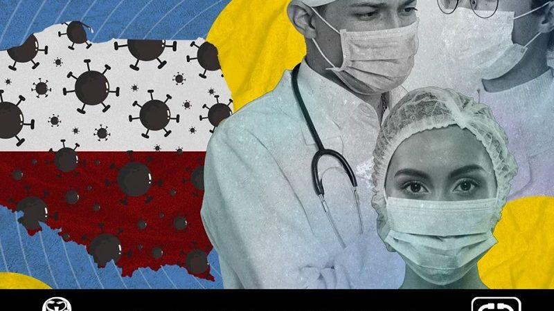 Lekarze w maskach, źródło fb Okręgowa Izba Lekarska w Warszawie