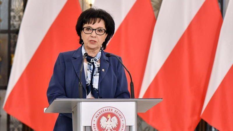Marszałek Sejmu Elżbieta Witek, konferencja prasowa, źródło sejm.gov