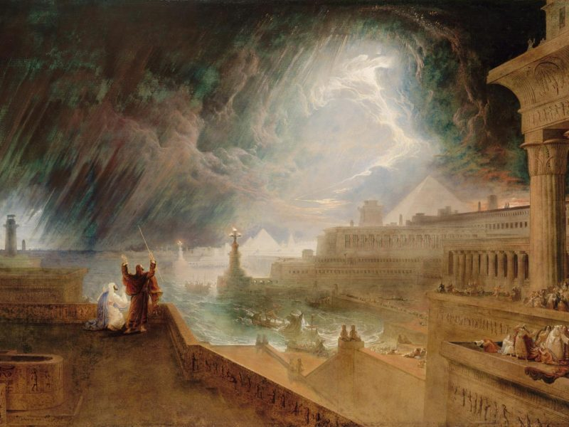 John Martin, Siódma plaga, 1823 [Wikipedia, domena publiczna]