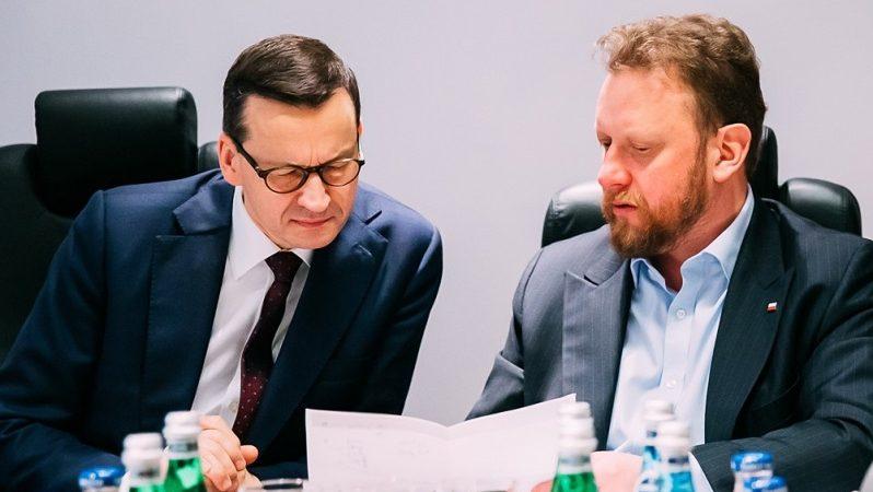Premier Mateusz Morawiecki i minister zdrowia Łukasz Szumowski, źródło Krystian Maj KPRM
