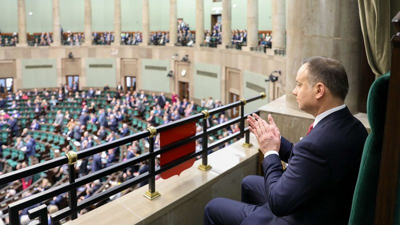 Prezydent Andrzej Duda w Sejmie, źródło Jakub Szymczuk KPRP
