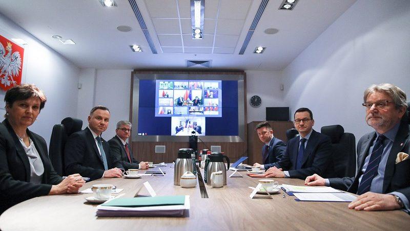 Rada Bezpieczeństwa Narodowego, telekonferencja ws. tzw. tarczy antykryzysowej, źródło Jakub Szymczuk KPRP