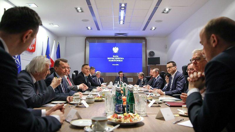 Rada Bezpieczeństwa Narodowego ws. koronawirusa, źródło Jakub Szymczuk KPRP