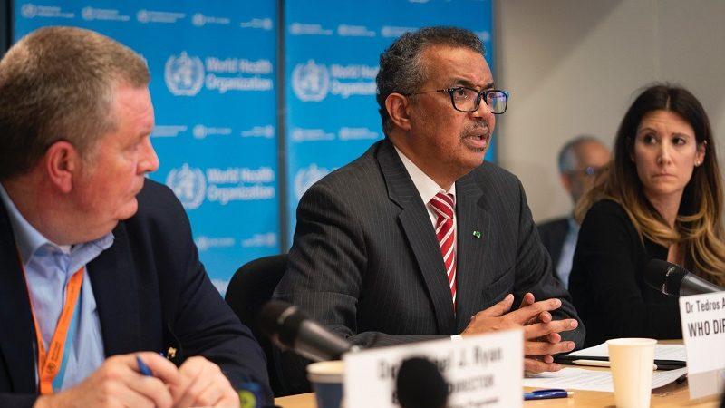 Szef WHO Tedros Ghebreyesus ogłasza pandemię koronawirusa, źródło twitter szefa WHO