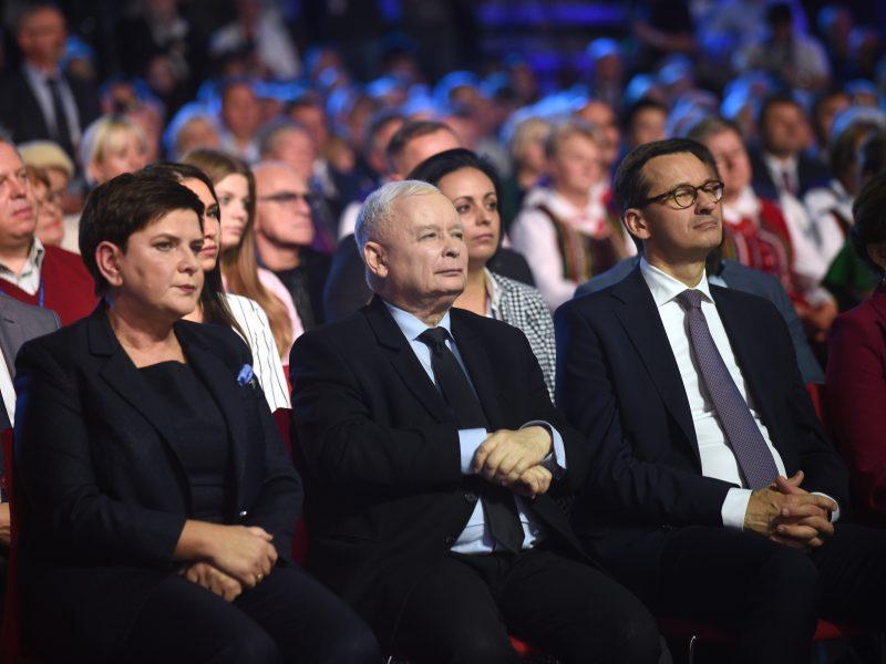 Jarosław Kaczyński, Beata Szydło, Mateusz Morawiecki, fot. Prawo i Sprawiedliwość