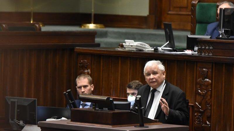 Prezes PiS Jarosław Kaczyński w Sejmie, źródło Aleksander Zieliński sejm.gov.pl