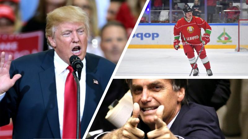 Trump - Łukaszenka - Bolsonaro - Klub Strusi : Austrich Alliance