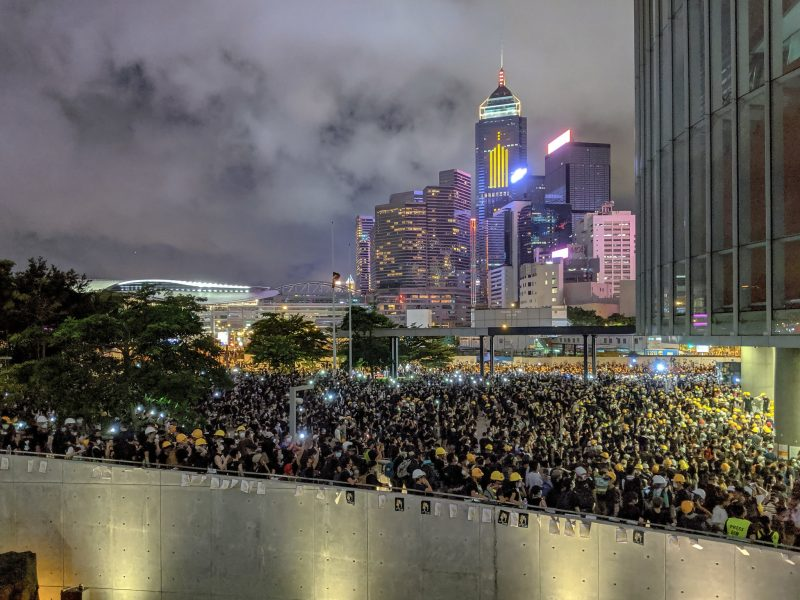 Protesty w Hongkongu, źródło: Flickr/Studio Incendo (CC BY 2.0)