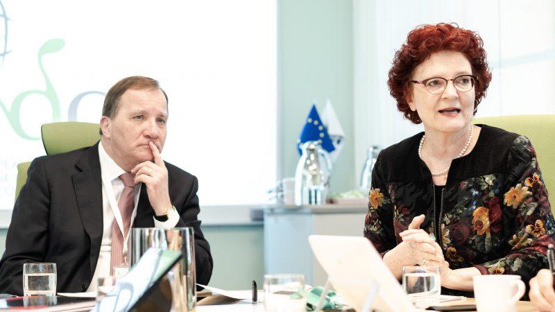Andrea Ammon z premierem Szwecji Stefanem Lofvenem, fot. ECDC [Twitter]