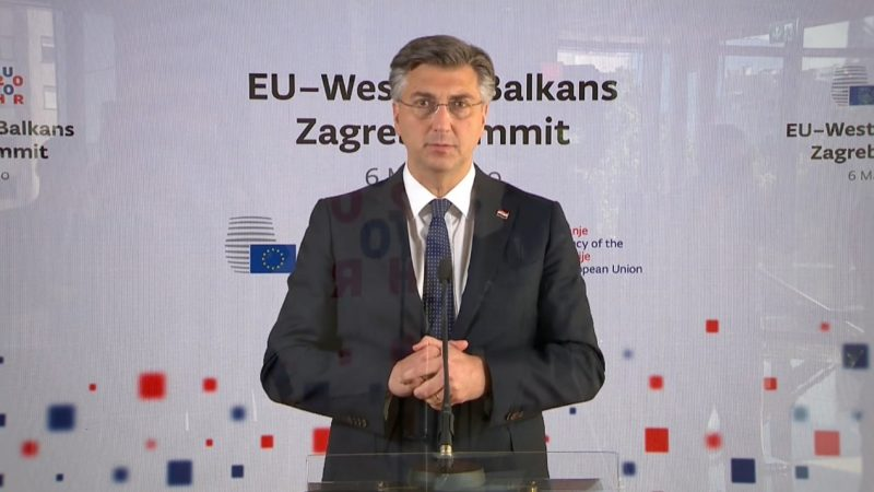 Premier Chorwacji Andrej Plenkovic, fot EU2020HR [Twitter]