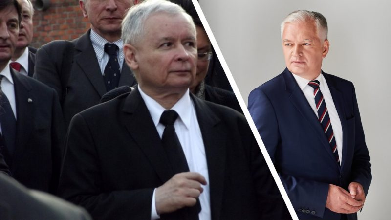 Jarosław Kaczyński, fot. Piotr Drabik [Flickr], Jarosław Gowin [Public Domain]. Opracowanie: EURACTIV.pl