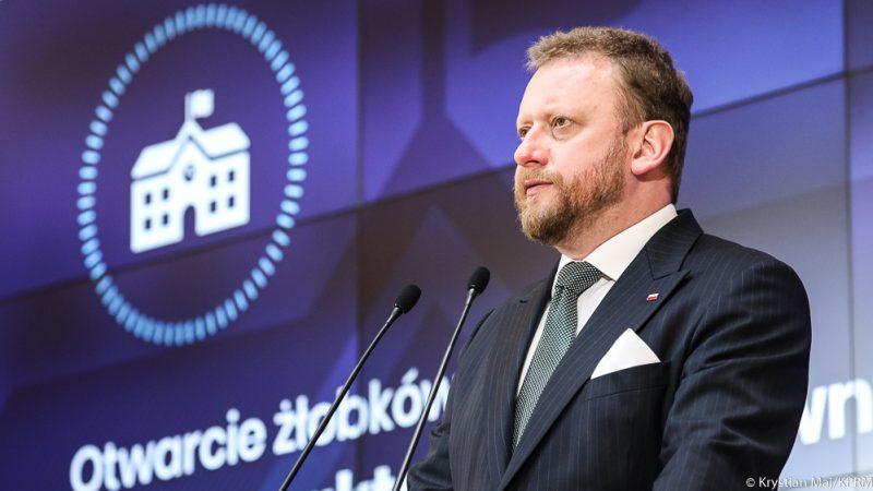Minister zdrowia Łukasz Szumowski, fot. Kancelaria Premiera [Twitter]