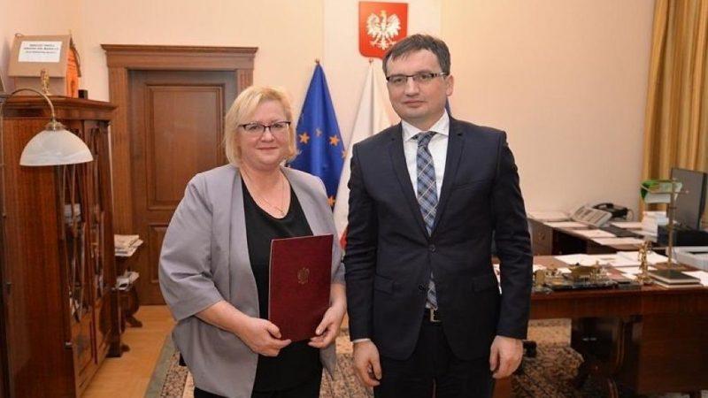 Pierwsza Prezes Sądu Najwyższego Małgorzata Manowska i minister sprawiedliwości Zbigniew Ziobro, fot. IUSTITIA Polish Judges Association [Twitter]