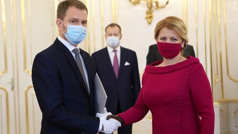 Premier Słowacji Igor Matovic i prezydent Zuzana Caputova, fot. Twitter