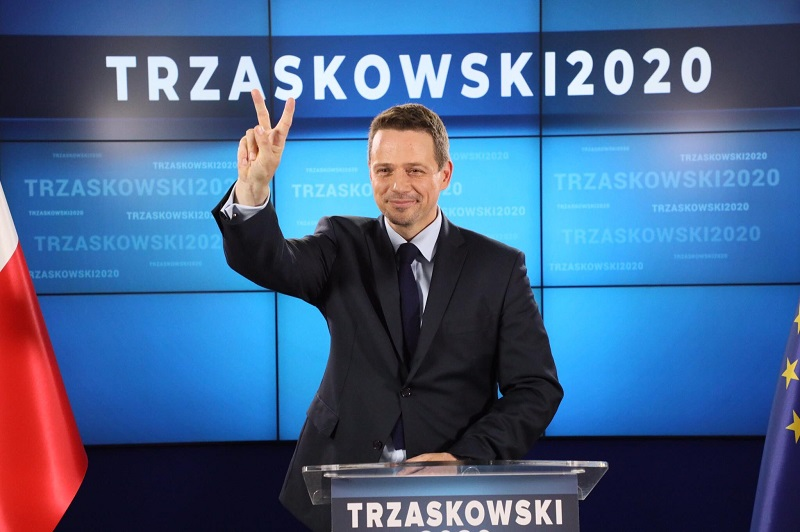 Rafał Trzaskowski, kandydat KO na prezydenta RP, źródło twitter PlatformaObywatelska