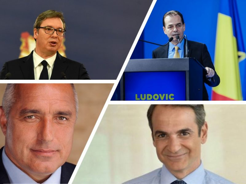 Premier: Bułgarii - Bojko Borisow, Grecji - Kiriakos Mitsotakis, Rumunii - Ludovic Orban i prezydent Serbii Aleksandar Vučić [foto via@ Facebook], opracowanie: EURACTIV.pl