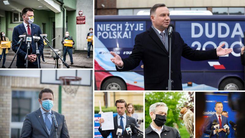 Kandydaci na prezydenta, fot. Facebook: Rafał Trzaskowski, Władysław Kosiniak-Kamysz, Szymon Hołownia, Robert Biedroń, Krzysztof Bosak, Andrzej Duda