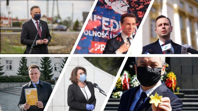 Kandydaci na prezydenta, fot. Twitter i Facebook Małgorzata Kidawa-Błońska, Władysław Kosiniak-Kamysz, Szymon Hołownia, Robert Biedroń, Krzysztof Bosak, Andrzej Duda