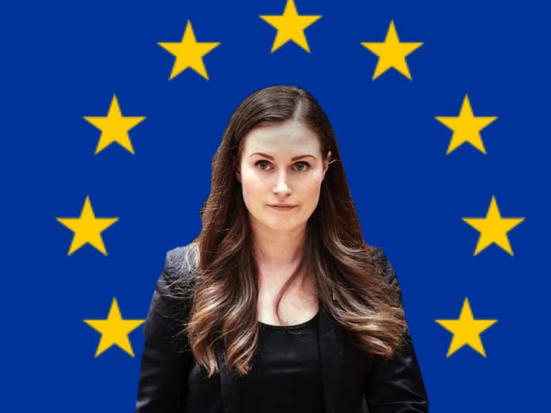 Premier Finlandii Sanna Marin foto. via @ Sanna Marin Twitter, opracowanie: EURACTIV.pl
