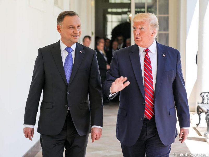 Prezydent Andrzej Duda i prezydent USA DOnald Trump, fot. Kancelaria Prezydenta RP [Facebook]