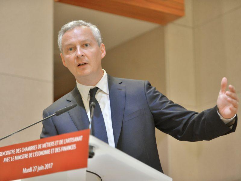 Francuski minister finansów Bruno Le Maire, źródło: Flickr/APCMA France (CC BY 2.0)