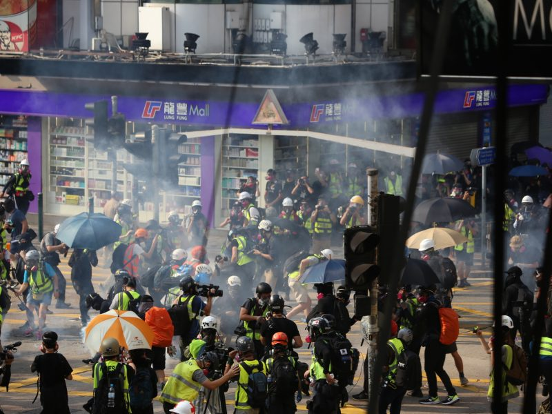 Protest w Hongkongu, 20 października 2019, fot. Katherine Cheng [Flickr]