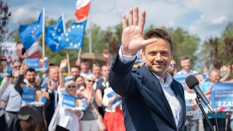 Kandydat KO na prezydenta Rafał Trzaskowski na wiecu przedwyborczym, źródło twitter Trzaskowski2020