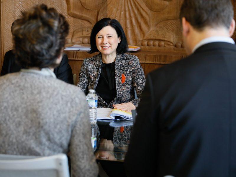 Wiceprzewodnicząca Komisji Europejskiej i komisarz ds. wartości i transparentności UE Vera Jourova, fot. twitter