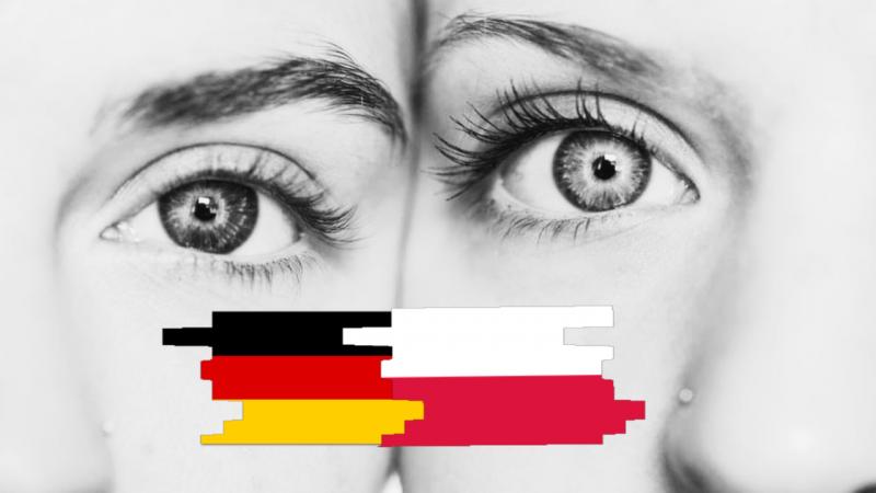 Sąsiedztwo z historią w tle: spojrzenia przez granice, Barometr Polska-Niemcy 2020. [Twarze dwóch kobiet. Foto via @ Unsplash. Opracowanie graficzne: EURACTIV.pl]