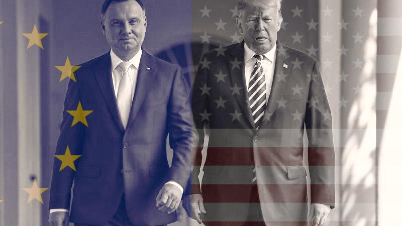 Prezydent Andrzej Duda i prezydent USA Donald Trump, fot. Kancelaria Prezydenta RP [Facebook]. Opracowanie: EURACTIV.pl