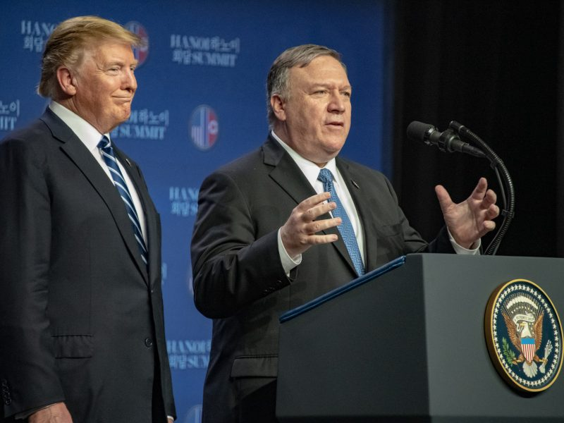 Sekretarz stanu USA Mike Pompeo i prezydent Donald Trump, fot. @Secretary Pompeo [Twitter]
