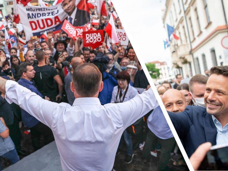 Prezydent Andrzej Duda i Rafał Trzaskowski, fot. @Andrzej Duda, @Rafał Trzaskowski [Facebook]. Opracowanie: EURACTIV.pl