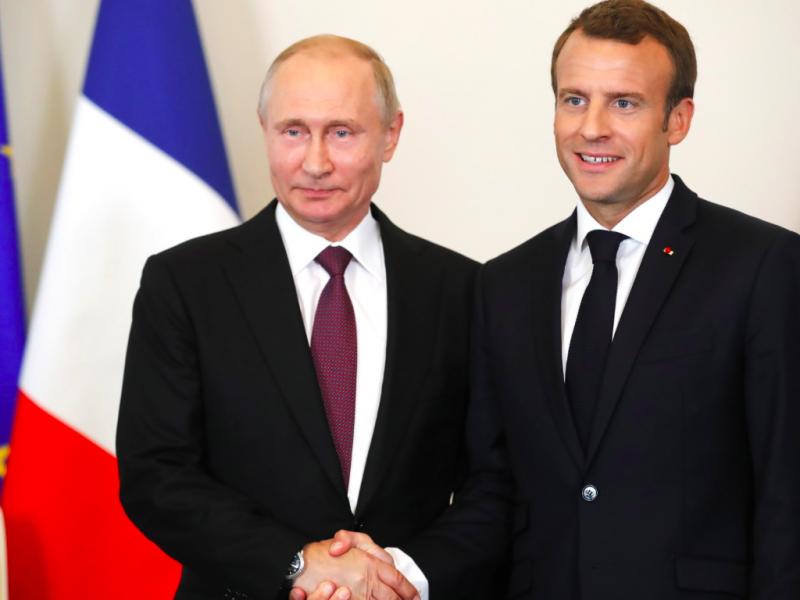 UE-Francja-Rosja-Macon-Putin-dyplomacja-Ukraina-Zełenski-Donbas-format-normandzki