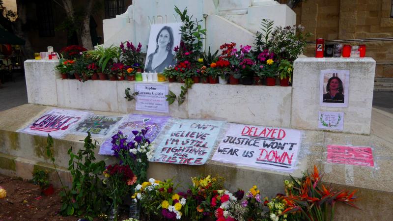 Śmierć Daphne Caruany Galizii poruszyła wielu Maltańczyków, źródło: Wikipedia, fot. Ethan Doyle White (CC BY-SA 4.0)
