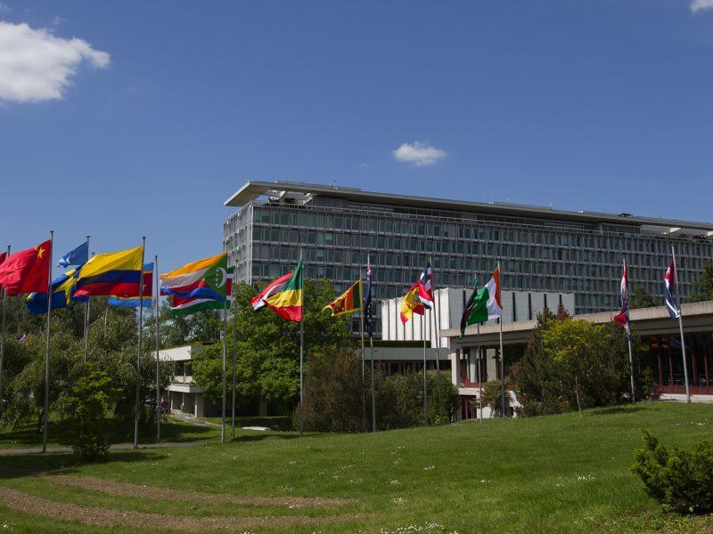 Siedziba główna WHO w Genewie w Szwajcarii, źródło: Flickr/U.S. Mission Geneva, fot. Eric Bridiers (CC BY-ND 2.0)