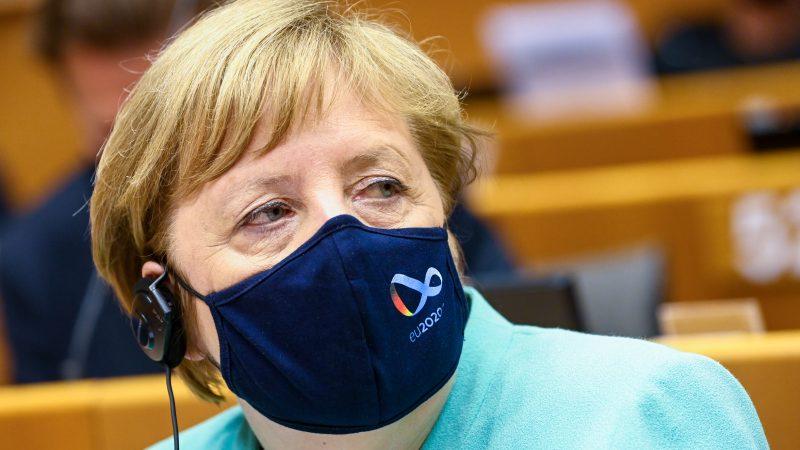 Kanclerz Niemiec Angela Merkel w Parlamencie Europejskim, fot. Laurie Dieffembacq (© European Union 2020 - Source : EP)