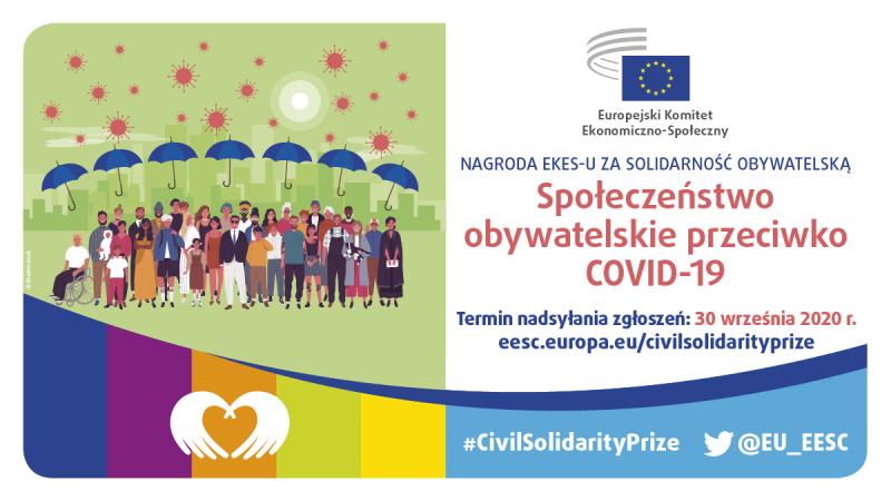 EKES nagrodzi do 29 inicjatyw solidarnościowych podejmowanych w UE i w Zjednoczonym Królestwie na rzecz zwalczania COVID-19 i przeciwdziałania jego katastrofalnym skutkom