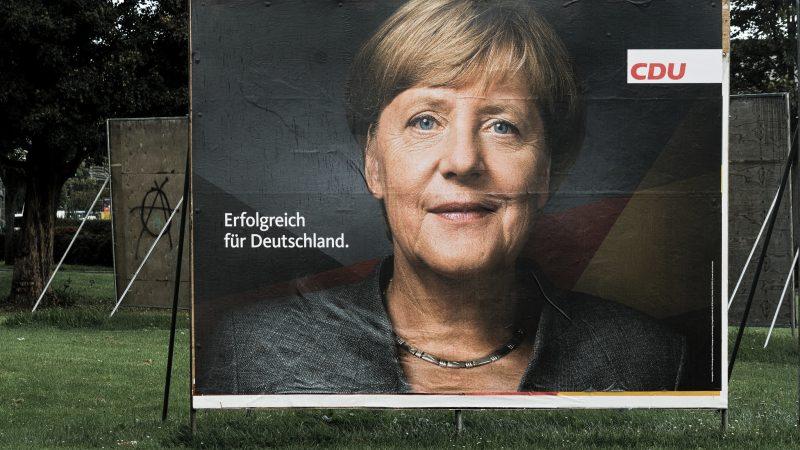Plakat wyborczy z Angelą Merkel z 2017 r.