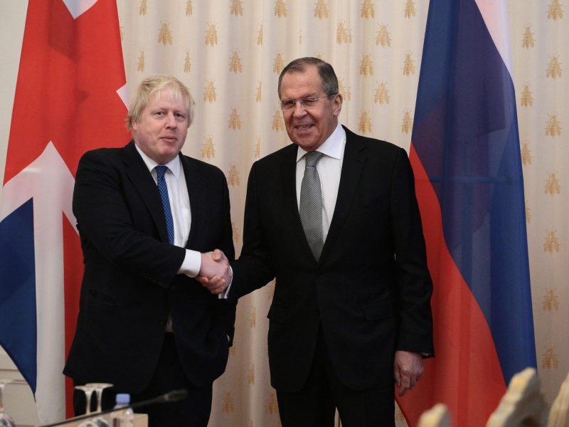 Spotkanie ministrów spraw zagranicznych Wielkiej Brytanii - Borisa Johnsona i Rosji - Siergieja Ławrowa w Moskwie, 22 grudnia 2017 r.
