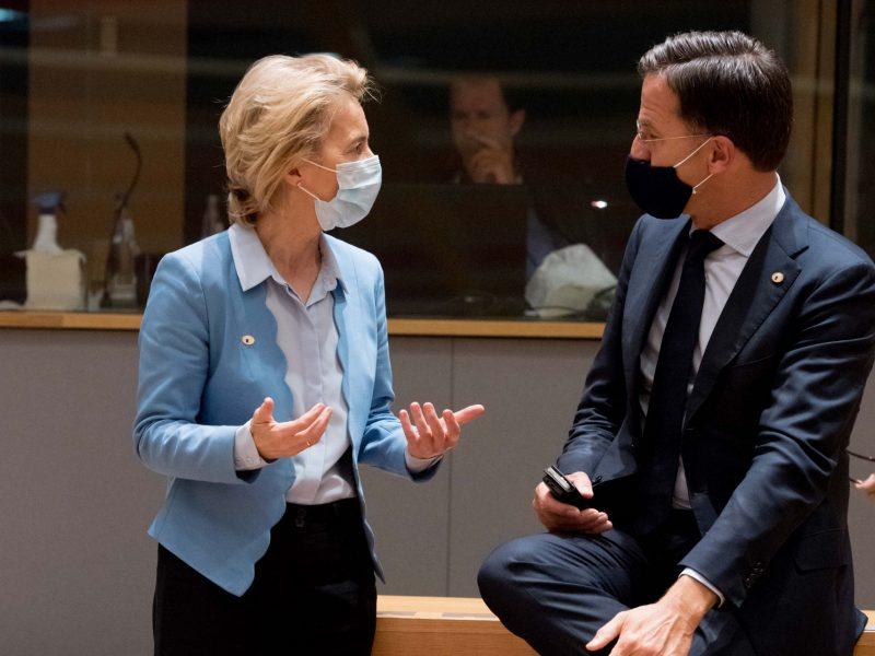 Przewodnicząca Komisji Europejskiej Ursula von der Leyen i premier Holandii Mark Rutte [Twitter, @vonderleyen]