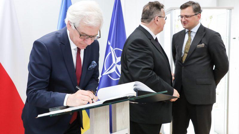 Trójkąt Lubelski- konf.pras. szefów dyplomacji Polski, Litwy i Ukrainy, źródło Sebastian Indra MSZ flickr.comphotospolandmfa