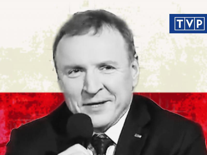 Jacek Kurski. Zrzut ekranu z konferencji prasowej TVP Info z 11 marca 2020. Opracowanie: EURACTIV.pl