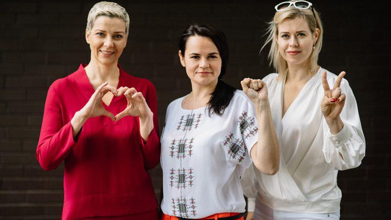 Maryja Kalesnikawa, Swiatłana Cichanouska i Weranika Cepkała, źródło: Facebook/Виктор Бабарико/@viktar.babaryka