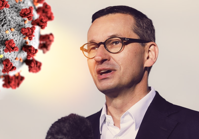 Premier Mateusz Morawiecki, fot. Kancelaria Premiera [Twitter]. Opracowanie: EURACTIV.pl