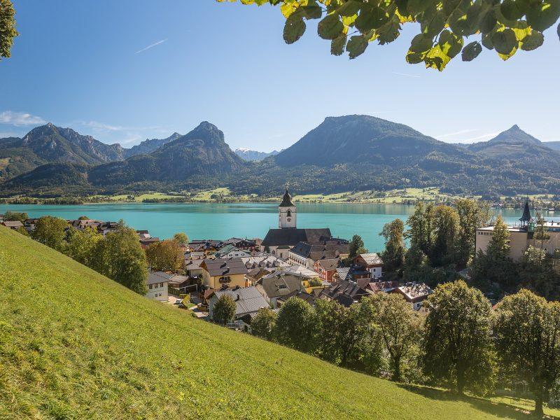 Kurort Sankt Wolfgang w Górnej Austrii, źródło: Pixabay, fot. maxmann